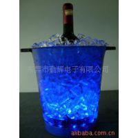 供应亚克力透明冰桶 7.5L遥控发光冰酒桶 充电款led七彩塑料冰桶
