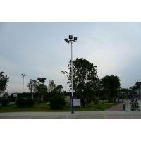 篮球场灯光方案 网球场灯光设备 锥形一拖三球场灯杆 康腾体育