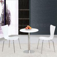 上品直销SP-CT620奶茶店桌椅组合 白色防火材洽谈桌椅成套