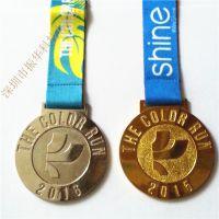 金属锌合金压铸奖牌 带织带圆形运动会奖牌奖章厂家直供