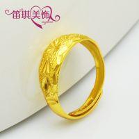 满天星戒指 火熔金 镀黄金保色指环 可调节情侣戒指 时尚饰品批发