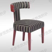 现代餐厅餐椅 新古典火锅椅子布艺斑马纹椅子 橡木实木餐椅