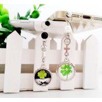 一对耳机防尘塞批发 情侣可爱手机挂件 时光宝石创意礼品 可定制