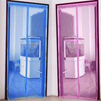 F012新款简易磁性软纱门帘 夏季防蚊门帘加密纱窗沙门
