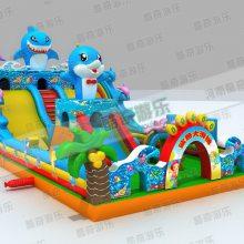 儿童充气城堡游乐设备 2014鲨鱼充气蹦蹦床