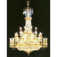 定制酒店大堂豪华吊灯水晶灯全铜灯云石灯工程非标式定制灯