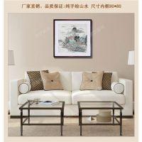 恩施手绘国画,武汉名艺画框厂,手绘国画山水现货