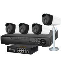 安尼威尔监控摄像机4路NVR POE网络监控套装