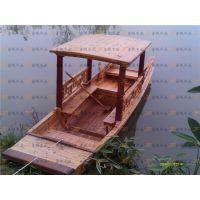 供应新款5米仿古手划旅游观光小二手木船 景观装饰木船 保洁渔船