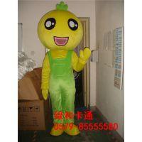 绿和卡通定做绿和卡通人物服装企业吉祥物来图定制菠萝植物卡通人物