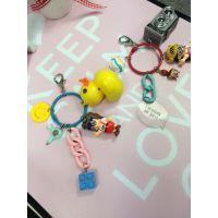 手工制韩版可爱阿拉蕾棒棒糖流苏铃铛钥匙扣挂件、包挂、车挂件