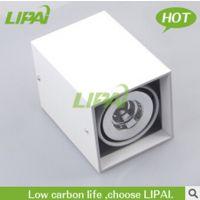 白色款明装COB筒灯10W12W15W30W明装LED筒灯 自然光中性光筒灯