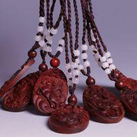 厂家直销小叶紫檀12生肖项链品木雕挂件木质 小叶紫檀挂饰单个