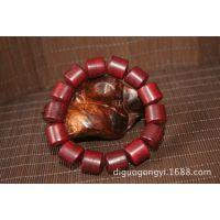红酸枝 红木手串 桶珠