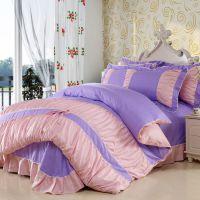 全棉韩版蝴蝶结碎花四件套 精梳纯棉床单被套四件套 床上用品批发