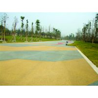供应新型地表铺装工程材料高渗透抗冲压全国指导施工彩色透水地坪艺术道路