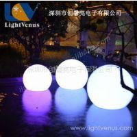 供应LED全彩圆球灯 遥控式七彩防水球  塑料圆球灯厂价热批