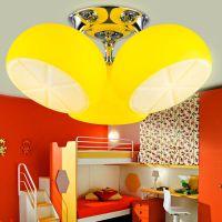 钜成现代柠檬儿童吸顶灯个性创意儿童卧室灯LED吸顶灯儿童房灯饰
