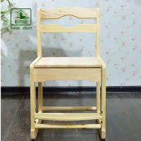 包物流正品柏木居樟子松升降椅儿童椅全实木松木学习升降椅