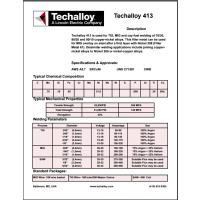 美国泰克罗伊Techalloy 276 镍基焊丝 ERNiCrMo-4 焊丝