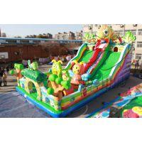 郑州卧龙充气玩具 大型室外陆地游乐设备充气蹦床城堡