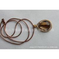 梦祥珠宝 天然钛晶镀金包边挂件 水晶挂件专卖 厂家直销 送礼品