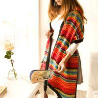 秋冬新品波西米亚风保暖针织毛线女士围巾 冬日暖歌