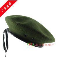 定做部队保安军贝雷帽 羊毛制服帽俄罗斯特种兵军用帽子外贸出口