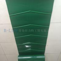 厂家直供 国产倍力特牌 抗拉防滑 PVC输送带人字纹绿色