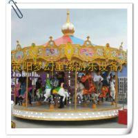 室内/公园/广场/渡假村/传统经典游乐项目16座旋转木马梦幻童缘生产