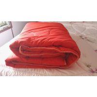 自然康双人红色羊毛被2*2.3加厚秋冬保暖被子 会销礼品 厂家批发