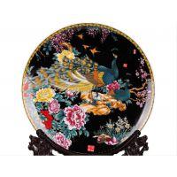 景德镇瓷35cm瓷盘 12寸陶瓷装饰盘子 可定制花盘现代家饰客厅摆件