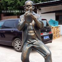 供应乐队人物雕塑 酒店大门仿铜雕音乐元素萨克斯摆件 玻璃钢雕塑