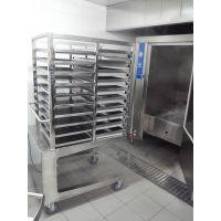 供应 中央厨房设备厂家 北京市益友大型馒头醒发房 双开门燃气推车式蒸箱