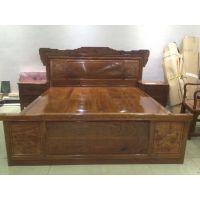 哪家实木床好?中式刺猬紫檀红木床名琢世家品牌