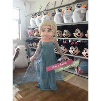 绿和卡通白雪皇后冰雪奇缘公主艾莎爱莎卡通人偶服装行走表演服饰外贸人偶
