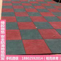 坡头4.0厚安全地垫铺设 走廊彩色地垫图案设计 柏克橡胶垫厂家