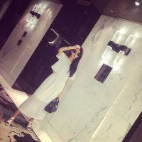 【MISS阮阮】定制 经典时尚套装小网格短款上衣+开叉高腰长裙