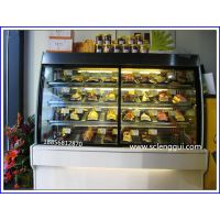 天然橡木蛋糕柜价格 KTV蛋糕柜 佳伯弧形蛋糕柜