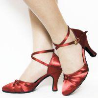 丹诗菲妮DFM-009中高跟6.5cm软底女式成人拉丁舞蹈鞋广场交谊摩登舞鞋