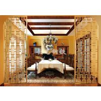 五星级酒店不锈钢屏风 装饰钛金玫瑰金屏风