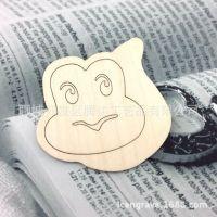创意木质工艺品 生肖小动物挂件 木片杯子垫