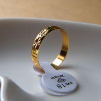 格纹 镀金 戒指 仿黄金戒指 女 男 情侣 地摊热卖饰品批发 低价