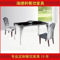 热卖 火锅餐桌椅 金属西餐厅烧烤店自助餐餐桌椅 中高端桌椅定做