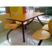 汕头步行街肯德基店剑桥体育实木的JQ-Z028餐桌椅