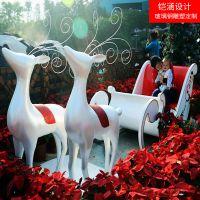 【铠涵工艺品】圣诞装饰雕塑-圣诞装饰道具-玻璃钢雪人雕塑