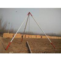 供应120*4型铝合金三角立杆机 架设8-10电线杆用起杆器 当天发货