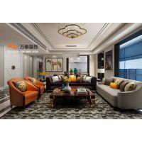 泰安印象泰山小区140平港式风格装修效果图案例-万泰装饰公司