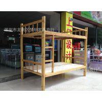 供应广州实木成人双层床上下铺高低床学生宿舍床儿童子母床