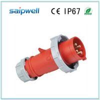 供应斯?普威尔 欧式三相四孔插头IP67 SP-294 户外电源工业插座
